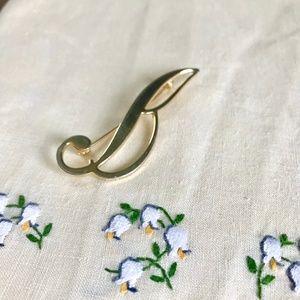 "Vintage Initial ""B"" Pin / Brooch"